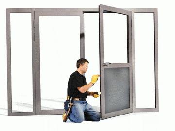 Ремонт дверей из алюминия и ПВХ